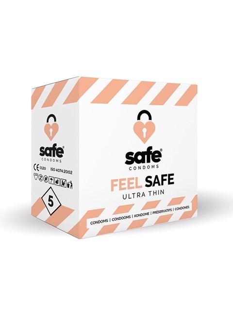 Feel safe condooms (ultra dun) (Aantal: 5 stuks)