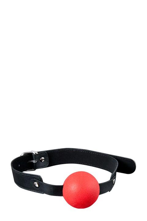 Siliconen ball gag (Kleur: Rood)