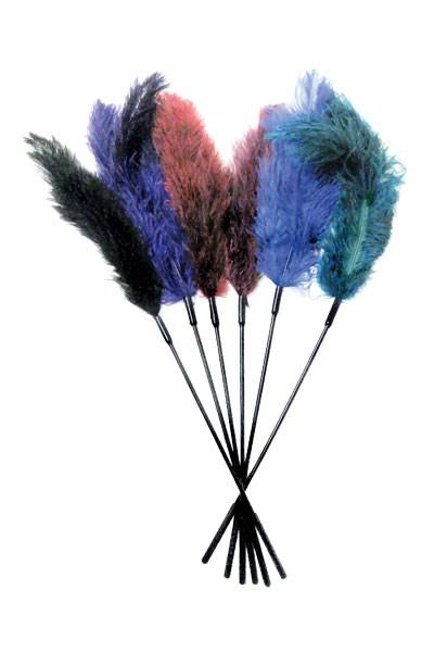 Struisvogelveren kietelaar (Kleur: zwart)